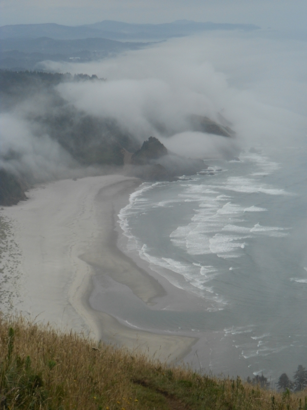 Coastline with fog