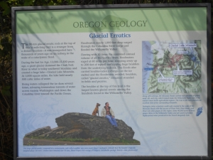 Erratic Rock interpretive sign