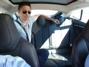 Steve in backseat