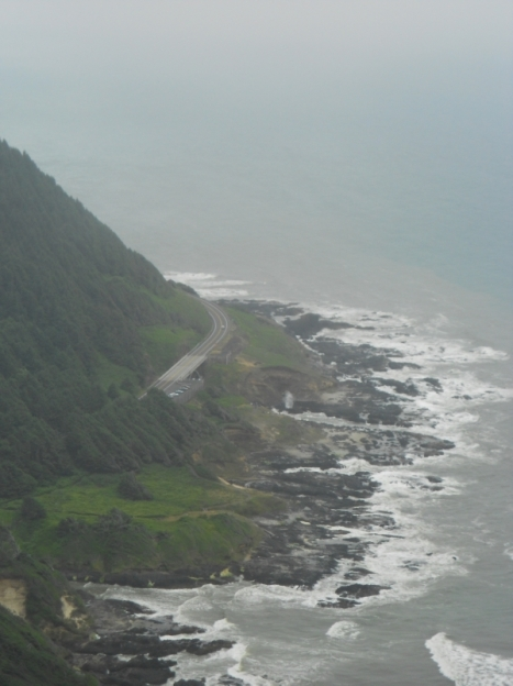 View south from top of Cape Perpetua