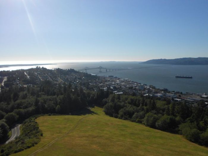 View of Astoria from the top of the Astoria Column