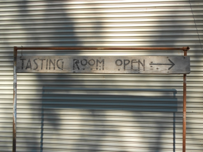 Tasting Room Open sign