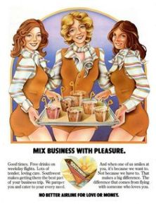 Southwest Airlines magazine ad from the 1970s